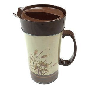 Vintage Thermo Serv Insulated Pitcher & Lid Fall